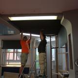 Test lepení akustického molitanu na strop | Testing of acoustic foam fitting
