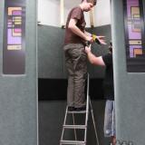 Stavba výtahu | Building the lift