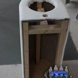 Polepení umyvadla molitanem | The washbasin upholstered with soft foam